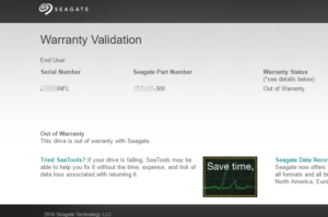 Warranty Status of Seagate