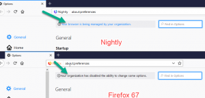 Your company is managed by your browser